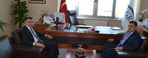 Sultanoglu Ve Bakan, SGK Il Müdürü Findik'i Ziyaret Etti