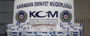 Karaman'da Agustos Ayinda Emniyet 10 Bin 548 Paket Gümrük Kaçagi Sigara Ele Geçirdi