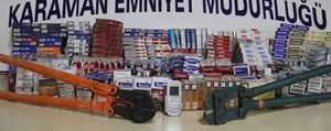 Karaman'da Hirsizlik Yapan Iki Kisi Tutuklandi