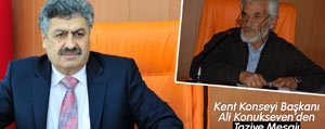 Kent Konseyi Baskani Ali Konukseven`den Taziye Mesaji