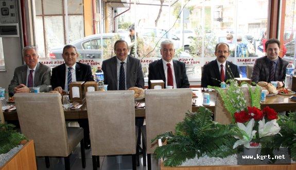 THK Üniversitesi Rektörü Saldıraner Karaman'da