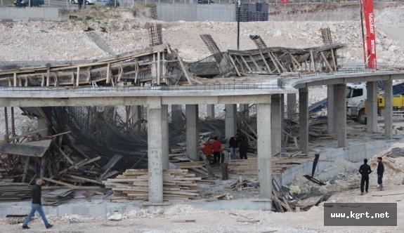 Karaman'da İnşaat Kalıpları Çöktü: 1 Yaralı