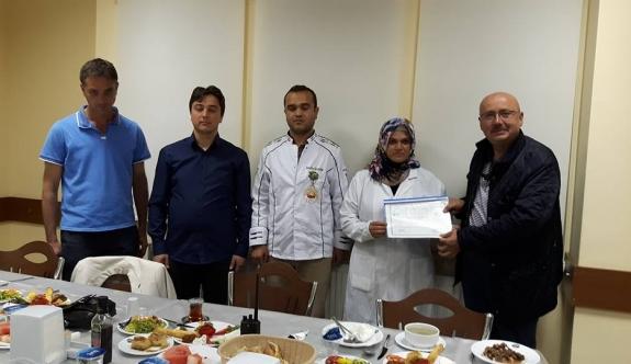 Aşçı Yardımcılığı Kursunu Başarıyla Bitirenlere Sertifikaları Verildi