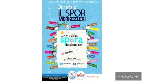 Karaman'da Ücretsiz Yaz Spor Okulları Kayıtları Başladı