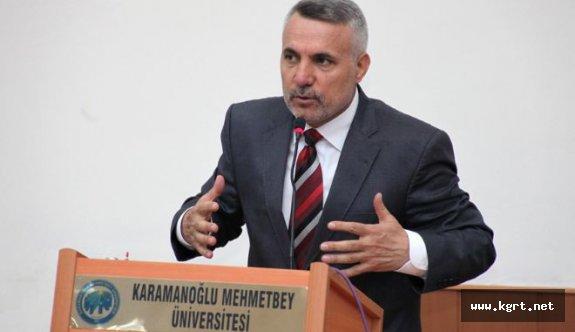 """Karataş'tan KMÜ'de """"Ödüllendirici Yönetim"""" Sözü"""