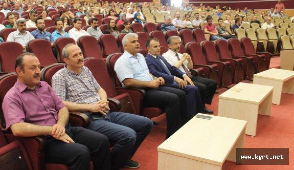 KMÜ Rektörü Sabri Gökmen'den Öğretmenlere Konferans