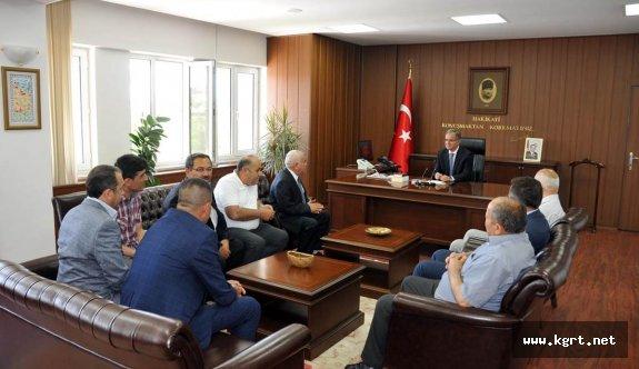 STK Ve Belediye Başkanlarından Vali Tapsız'a Hoşgeldin Ziyareti