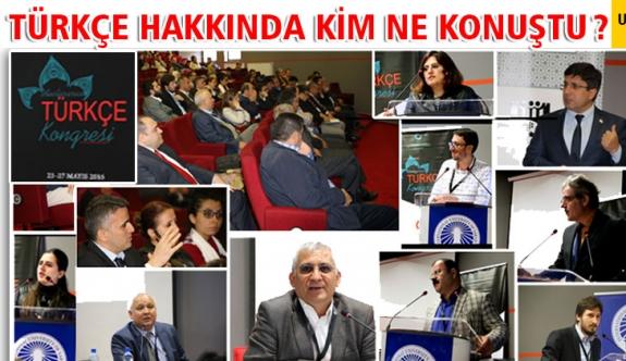 Türkçe Kongresi Sonuç Bildirgesi Yayınlandı