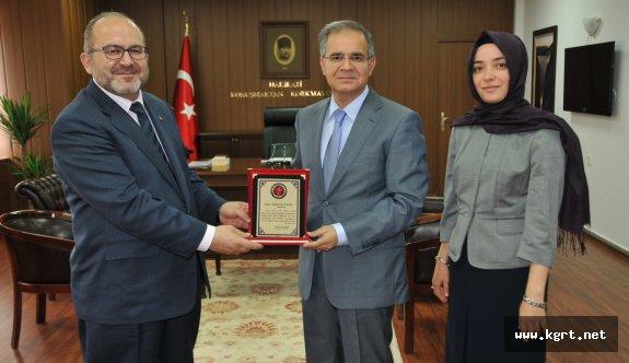 KMÜ Rektör Adayı Prof. Dr. Ali Şahin'den Vali Süleyman Tapsız'a Nezaket Ziyareti