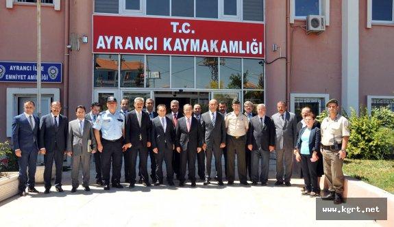 Vali Tapsız'dan Ayrancı İlçesine Ziyaret