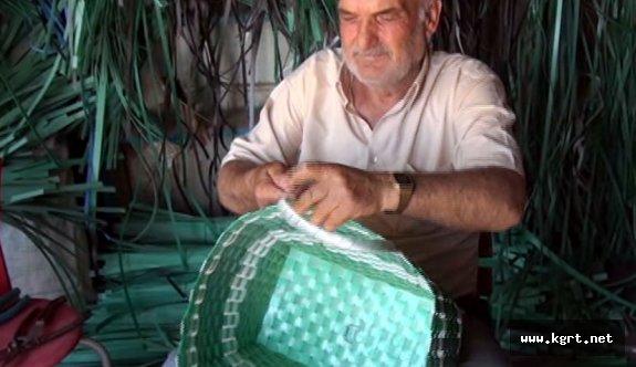 Emekli Madencinin Yaptığı Sepetler Büyük Rağbet Görüyor