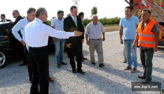 Vali Tapsız, Köy Yollarında Yürütülen Çalışmaları İnceledi