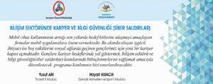Karaman'da Bilisim Sektöründe Kariyer Ve Bilgi Güvenligi Konusulacak