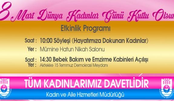 Kadın Ve Aile Hizmetleri Müdürlüğü'nden Kadınlar Günü Programı