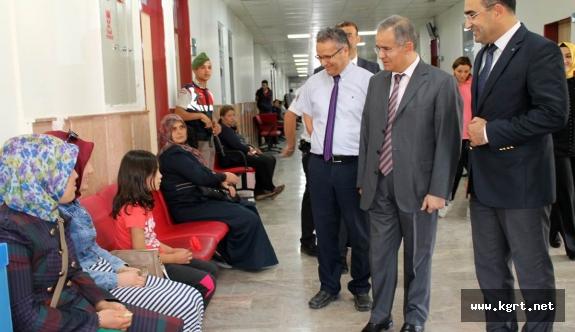 Vali Tapsız'dan Ağız Diş Sağlığı Hastanesine Ziyaret