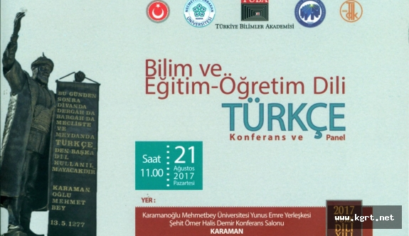 KMÜ'den Bilim Ve Eğitim-Öğretim Dili Türkçe Konulu Konferans