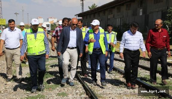 TCDD Genel Müdürü Apaydın, Karaman'da Hızlı Tren Çalışmaları İnceledi
