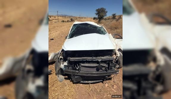 Karaman'da Tarlaya Takla Atan Otomobilin Sürücüsü Öldü