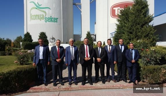 KKTC Tarım Bakanı Nazım Çavuşoğlu Konya Şeker'i Ziyaret Etti