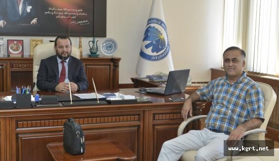 S.Ü. Turizm Dekanından Rektör Akgül'e Ziyaret