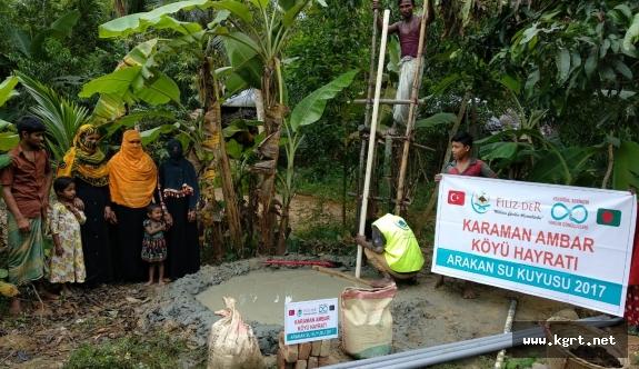 Karaman Ambar Köyü Arakan'a Can Suyu Oldu
