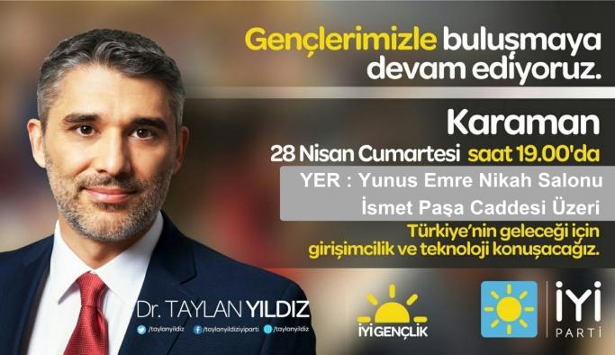İYİ Parti Genel Başkan Yardımcısı Yıldız Yarın Karaman'da