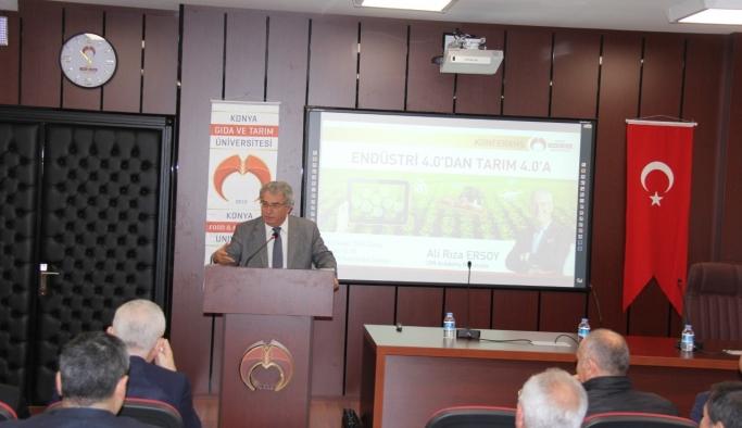 """KGTÜ'de Tarım 4.0 Konferansı """"Akıl Terinin Tarımdaki Yeni Adı Tarım 4.0"""""""