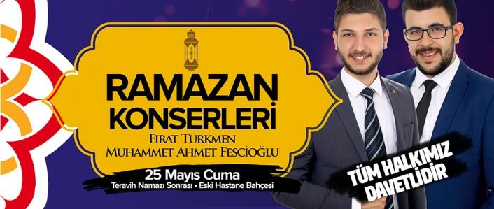 Ramazan Etkinliklerinin İlk Konseri Cuma Günü Yapılacak