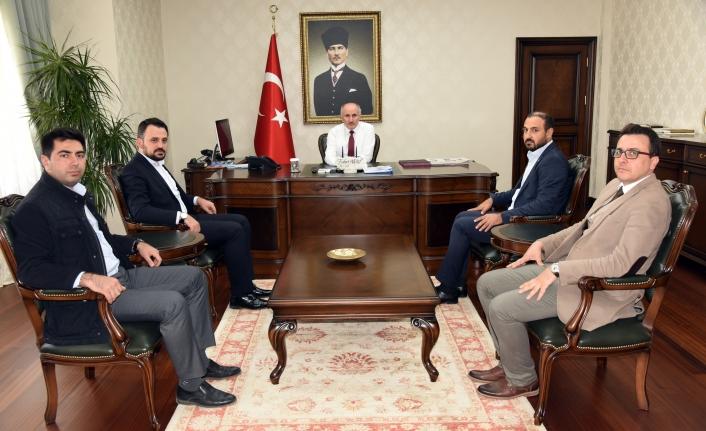 Türkiye Gençlik Vakfı Heyetinden Vali Meral'e Ziyaret