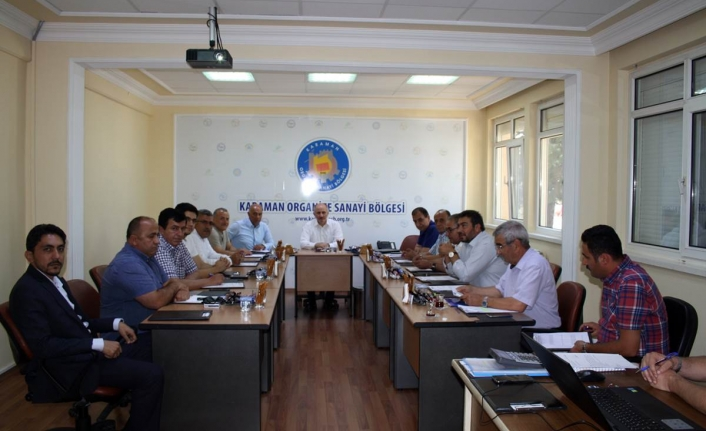 OSB Müteşebbis Heyeti Vali Fahri Meral Başkanlığında Toplandı