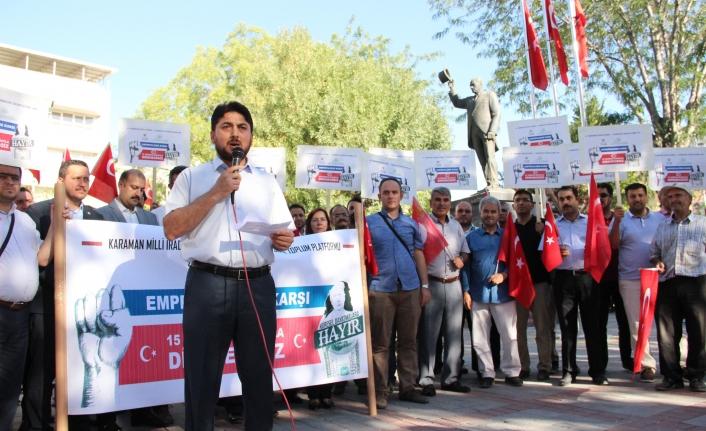 Sivil Toplum Kuruluşlarından Amerika Yaptırımlarına Protesto