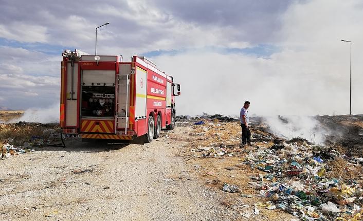 Katı Atık Ayrıştırma Tesisindeki Çöpler Yandı