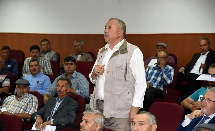 Merkeze Bağlı Köy Muhtarı Vali Meral Başkanlığında Toplandı