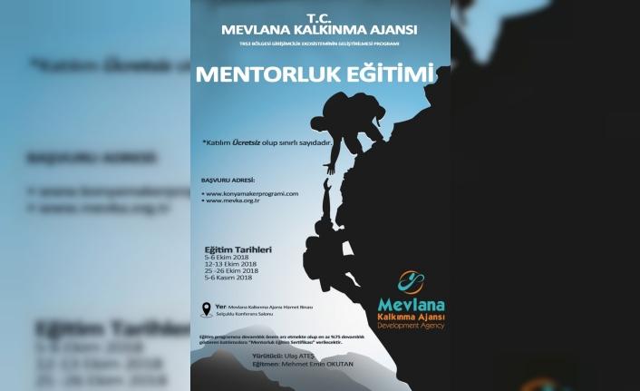 Mevlana Kalkınma Ajansı Mentor Eğitimi Programı Başlatıyor