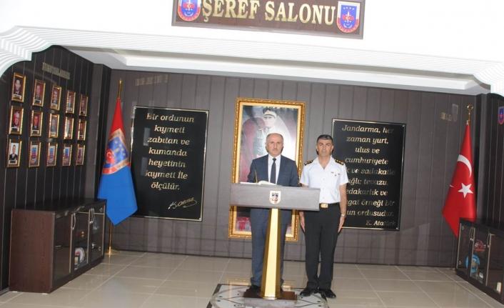 Vali Meral'den İl Jandarma Komutanı Şahin'e Ziyaret