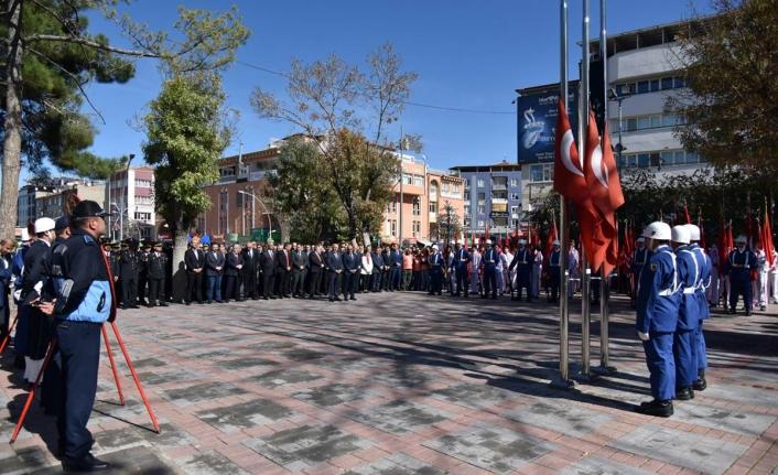 29 Ekim Cumhuriyet Bayramı Çelenk Koyma Töreni Düzenlendi