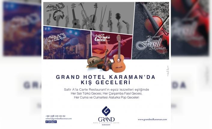 Grand Otel'de Kış Akşamları Keyifli Geçecek