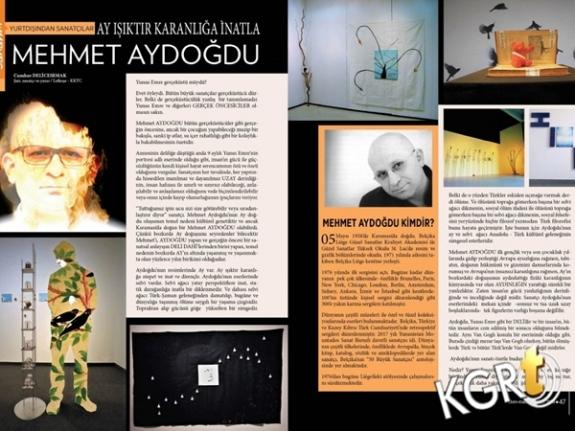 Mehmet Aydoğdu , Sanatım Dergisinde