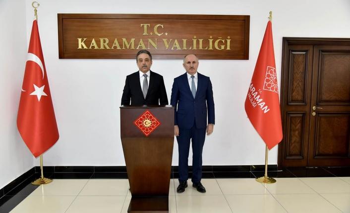 Konya Valisi Toprak'tan Vali Meral'e Nezaket Ziyareti
