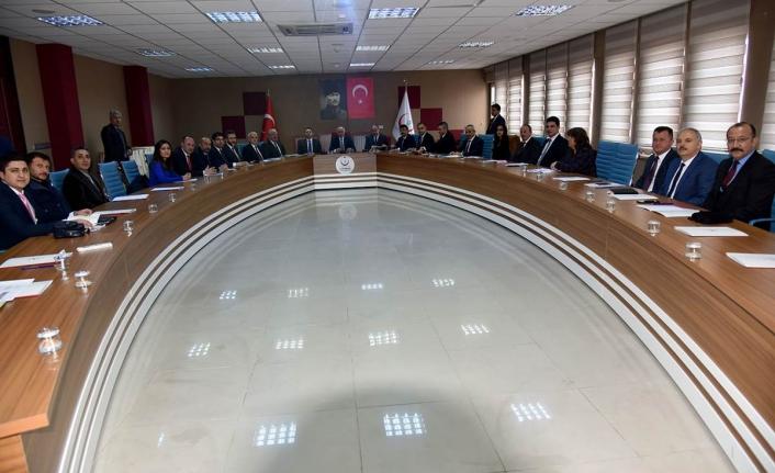 Vali Meral Bağımlılıkla Mücadele Toplantısına Başkanlık Etti
