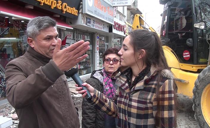 Vatandaştan Gazipaşa Caddesi Çalışmalarına Tepki