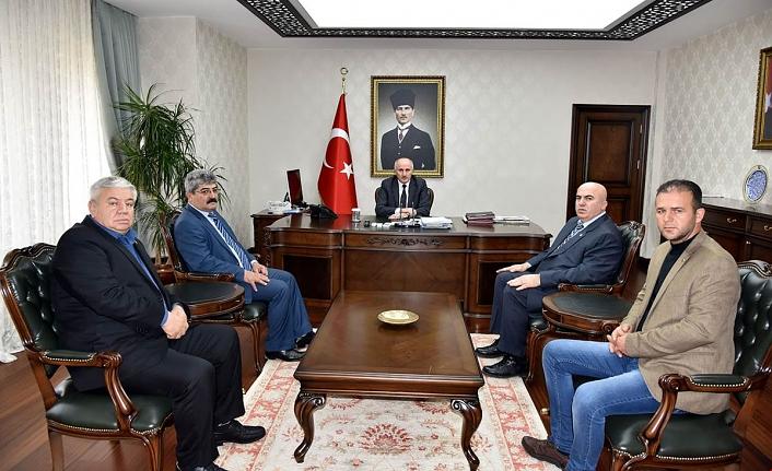 Ziraat Odası Yeni Yönetiminden Vali Meral'e Ziyaret
