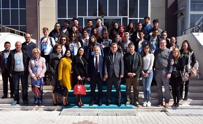 Avrupa'dan Gelen Eğitimciler ve Öğrenciler Ağırlandı