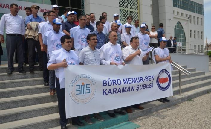 Karamandaki Zabıt KâtiplerindenYargı Reformuna İtiraz
