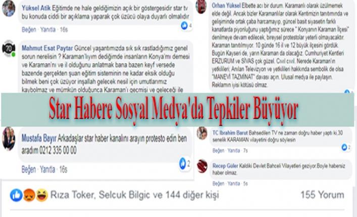 Star Habere Sosyal Medya'da Tepkiler Büyüyor
