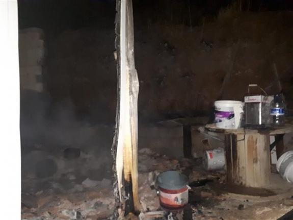 Çıkan Yangında Bağ Evi Kullanılmaz Hale Geldi
