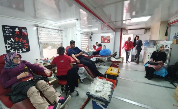 MYO Öğrencilerinden Kan Bağışına Destek