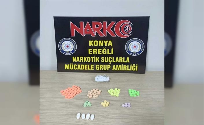Ereğli'de Şüphe Üzerine Durdurulan Araçtan Uyuşturucu Çıktı