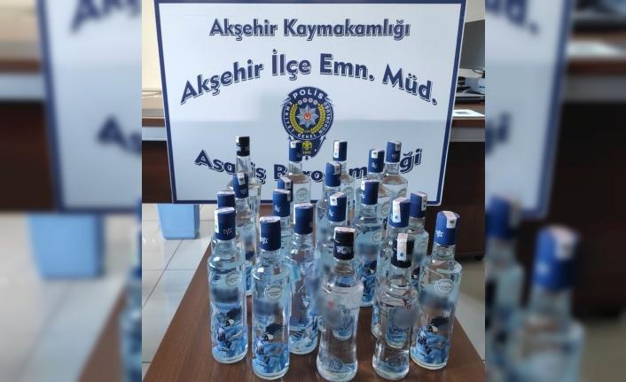 Konya'da 20 Şişe Kaçak İçki Ele Geçirildi