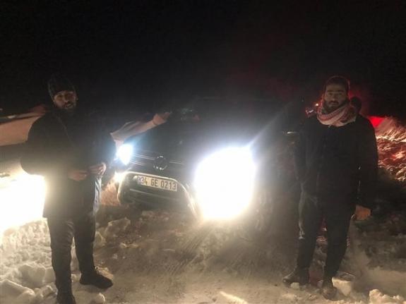 Ayrancı-Erdemli Yolunda Mahsur Kalan 4 Suriyeli 4 Saat'de Kurtarıldı